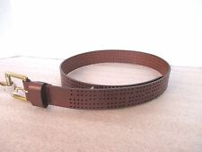 FOSSIL~Brown Genuine Leather PERF JEAN Men's BELT~Size Small~NWT