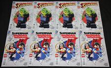 Modern DC LEGO VARIANT COVERS 14pc Mid-High Grade Comic Lot VF-NM Superman JLA