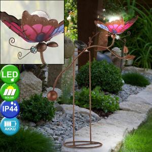 Solar Blumenstecker Schmetterling Farbwechsel im Garten