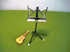 Vintage Barbie 1958 Mattel MUSIC STAND and GUITAR