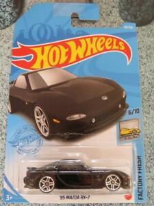 Hot Wheels 2021 #088/250 1995 Mazda RX-7 black @D Long card