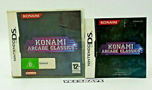 KONAMI ARCADE CLASSICS Nintendo DS - CASE AND MANUAL ONLY No Game
