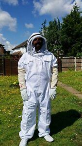 Beekeeper suit Beekeeping Bee suit with Fencing Veil +Beekeeping Gloves SMALL