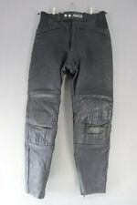 ASHMAN BLACK COWHIDE LEATHER BIKER TROUSERS - WAIST 30 INCH/INSIDE LEG 29 INCH