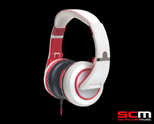 CAD MH510W Stereo Headphones White/Red Closed Back Incredible Sound Performance