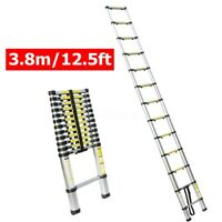 12.5Ft Aluminum Telescopic Extension Folding Step Multi-Use Non-Slip Ladder 3.8m
