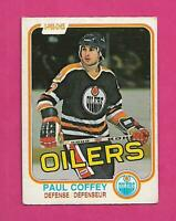 1981-82 OPC # 111 OILERS PAUL COFFEY  ROOKIE GOOD CARD (INV# D1017)