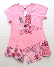 NWT Naartjie Kids Sun Shine Flower Leaves Flamingo Short Dress, XXL (8)
