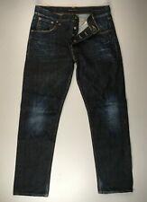 Nudie • Big Bengt NJ2463 Dark Crinkle Navy Jeans • W34(35) L32(31.5)