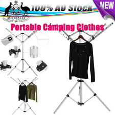 AU New Portable Camping Clothes Line Dryer Clothesline Rotary And Free Carry Bag