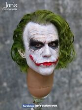 1/6 CUSTOM REHAIR REPAINT Joker hot toys figure head sculpt batman DX enterbay