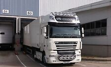 Para adaptarse a DAF XF 105 SUPER ESPACIO SPACE CAB camión camión de Barra de visera de Acero Inoxidable