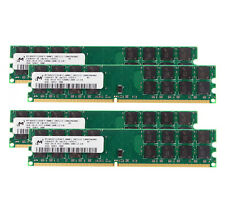 For Micron 4X 4GB DDR2 800Mhz PC2-6400 2Rx4 RAM Desktop DIMM Memory For AMD #1H4