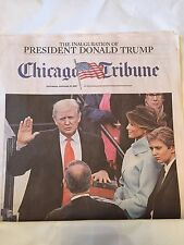 Donald Trump Inauguration Newspaper CHICAGO TRIBUNE 1/21/17 45th President Rare