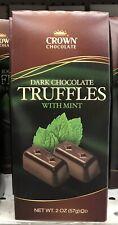 Crown Dark Chocolate Mint Truffles 2 Oz Box