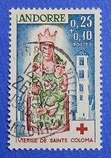 1964 ANDORRA FRENCH 25c+10c SCOTT# B1 MICHEL # 190 USED                  CS29128