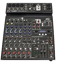 Peavey Pv10 BT Pro 10 Channel Band Mixing Desk or Studio Mixer Bluetooth PV10BT