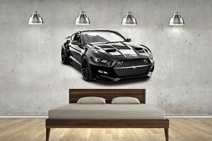 New Mustang Super Car Childrens Wall Stickers Bedroom Decal Wall Art 4 Sizes