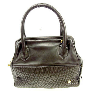 Bally Handbag Brown Gold Woman Authentic Used Y7246
