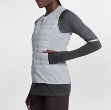 Women Nike Aeroloft Running Vest 856636 043 SIZE XL Pure Platinum
