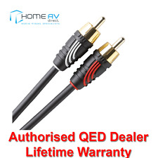 QED Profile Audio Phono to Phono Stereo RCA Interconnect Cable Lead 1m - QE2701