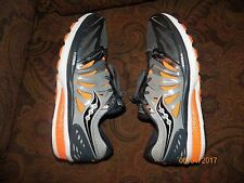 Pre-Owned Men's Saucony Hurricane ISO 2 (grey/charcoal/orange) SIZE 12