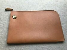 Vintage 1960s brown leather briefcase