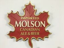 New ListingVintage • Molson Canadian Beer Maple Leaf Bar Sign Faux Wood Unique Carved 3D