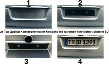 2x Kennzeichenhalter Nummernschildhalter Klett Rahmenlos unsichtbar 300 bis 520