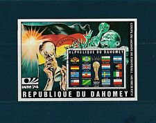 Dahomey  bloc   coupe du monde de football  de 1974   num:  22A  oblitéré