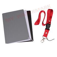 3in1 Digital 18% Gray/White/Black Card Set Photography Exposure Balance Strap