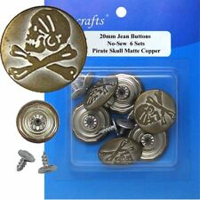 20 mm No-Sew Replacement Jean Tack Buttons (6CE8B)  6 CT.