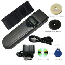 LCD Screen Security Patrol Wand RFID Guard Tour Systems & 30pcs Site Checkpoint