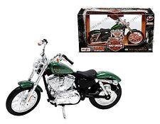 MAISTO 1:12 HARLEY-DAVIDSON CUSTOM 2013 XL 1200V SEVENTY-TWO MOTORCYCLE 32335GRN