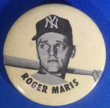 "ROGER MARIS New York Yankees 1960's button pin 2 1/4"""