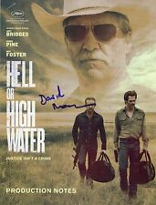"DAVID MACKENZIE Authentic Hand-Signed ""Hell Or High Water"" Production notes"