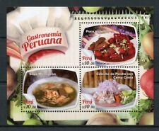 Peru 2017 MNH Pervuvian Gastronomy Puca Picante Sopa Menestron 3v M/S Stamps