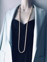 Vintage Necklace 1960s Single Strand Cream Faux Pearl