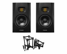 2x ADAM T5V Active Studio Monitor Powered Speaker + IsoAcoustics Decoupler Stand