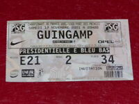 [COLLECTION SPORT FOOTBALL] TICKET PSG / GUINGAMP 17 NOVEMBRE 2001 Champ.France