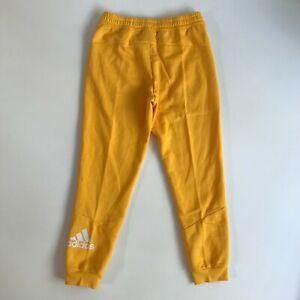 adidas Mens Size Medium Sportswear PG Sol Joggers Pants Gold Yellow New GQ2491