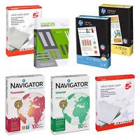 A4 & A3 80gsm -100gsm Inkjet Laser Print Copy Premium Paper HP, 5 Star,Xerox