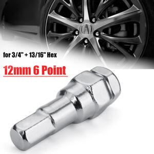 6 Spline 12mm Hex Wheel Rim Lug Nut Remover Tool Tuner Key Socket Adapter  #