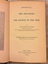 Journal of the Discovery of the Source of the Nile J Speke 1864 1st American Ed