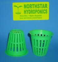 "2 "" inch HEAVY DUTY NET CUP POT HYDROPONIC CLONE GROW KIT DURABLE 50 count"