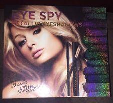 Paris Hilton Metallic Eyeshadow 12 Shades, Brush, Mascara, Eyeliner FREE SHIP!
