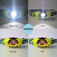 COB LED Headlamp Headlight Head Lamp Light Torch Flashlight Portable 3 Modes AA