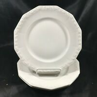 "Set of 3 ROSENTAL MARIA WHITE 8"" Salad Plates"
