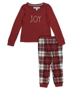 Rae Dunn Holiday Christmas Pajama Matching Family Red Joy 6-9M 18M 4T