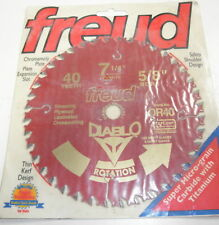 Circular Saw Blade Freud 7 1/4 40 Tooth Carbide Tip 5/8 Bore Teflon Coated